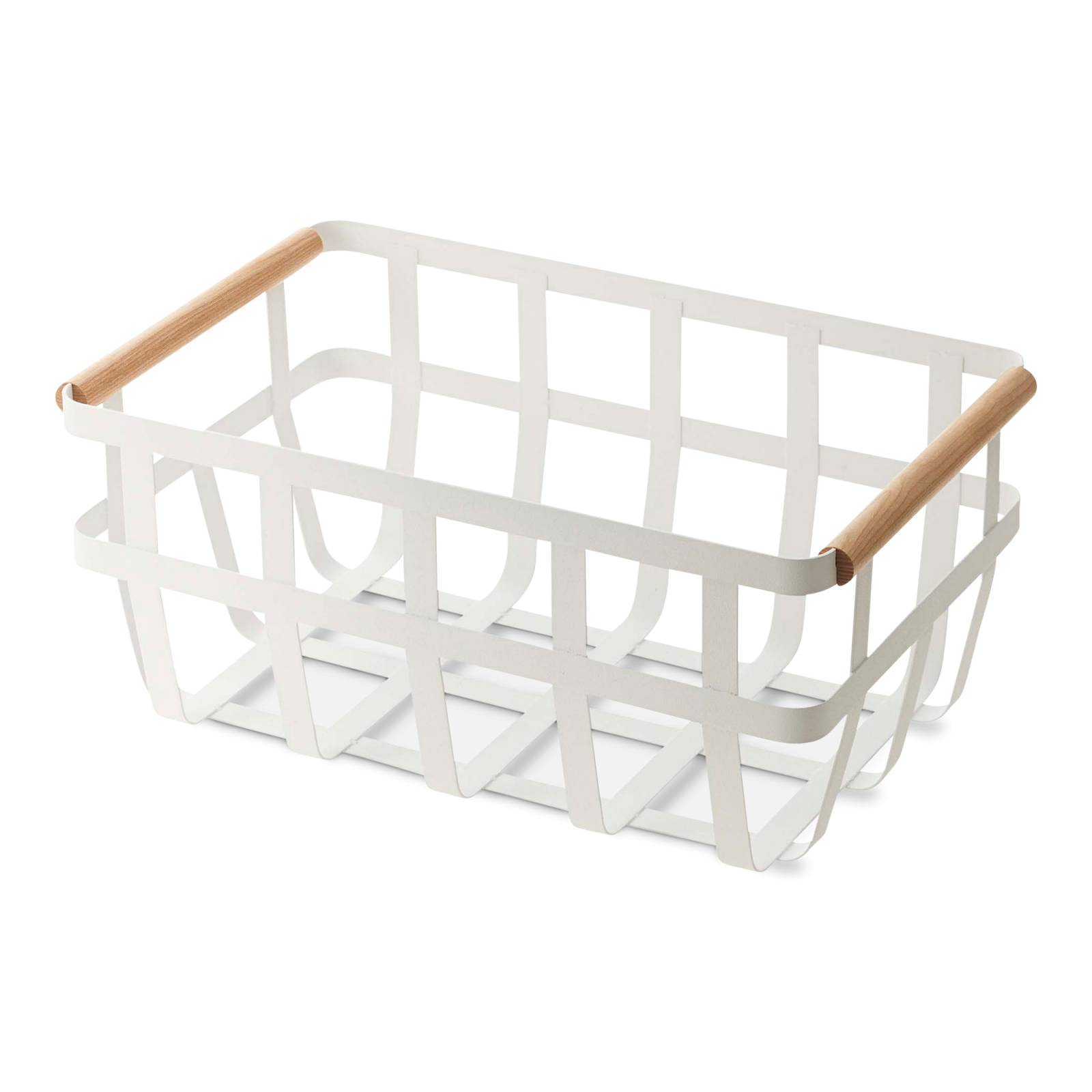 Tosca Dual-Handle Storage Basket, White