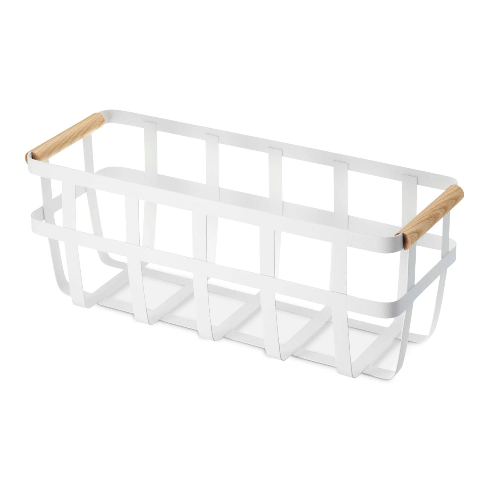 Tosca Slim Storage Basket, White