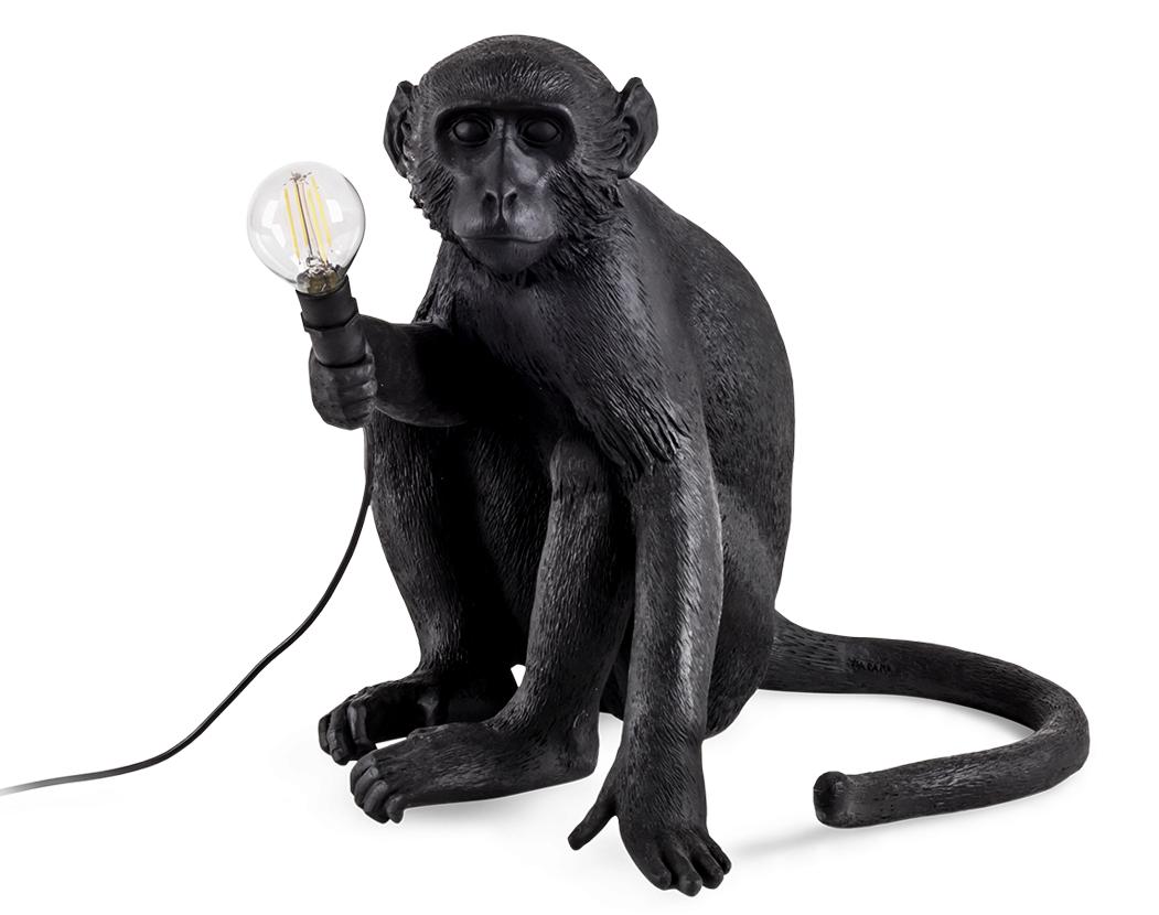 Seletti Outdoor Monkey Lamp, Sitting