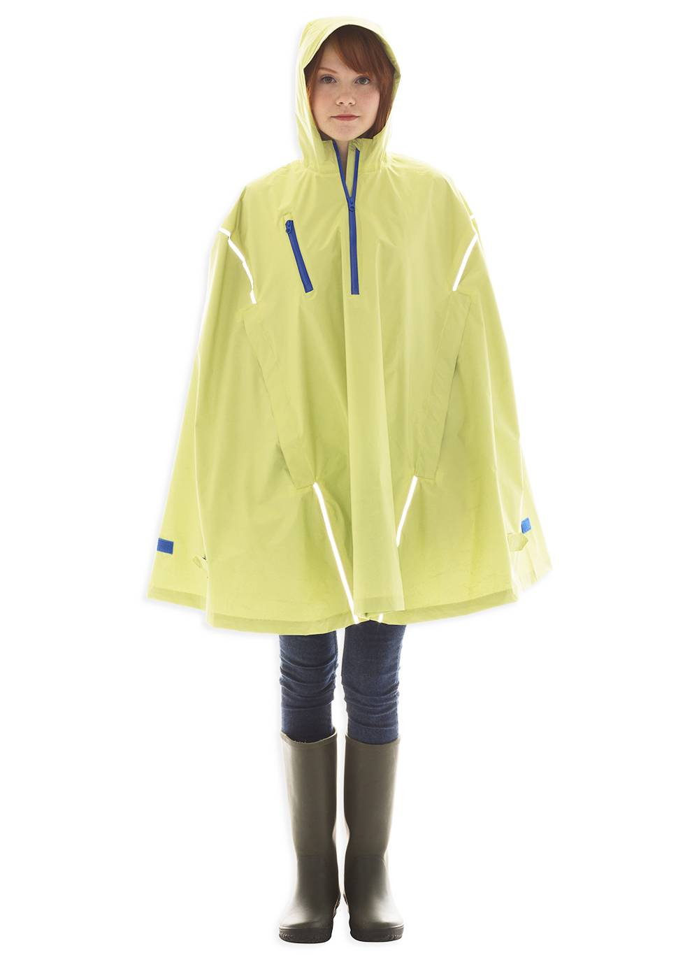 Seabee Yellow, High-Performance Rain Cape by Cleverhood