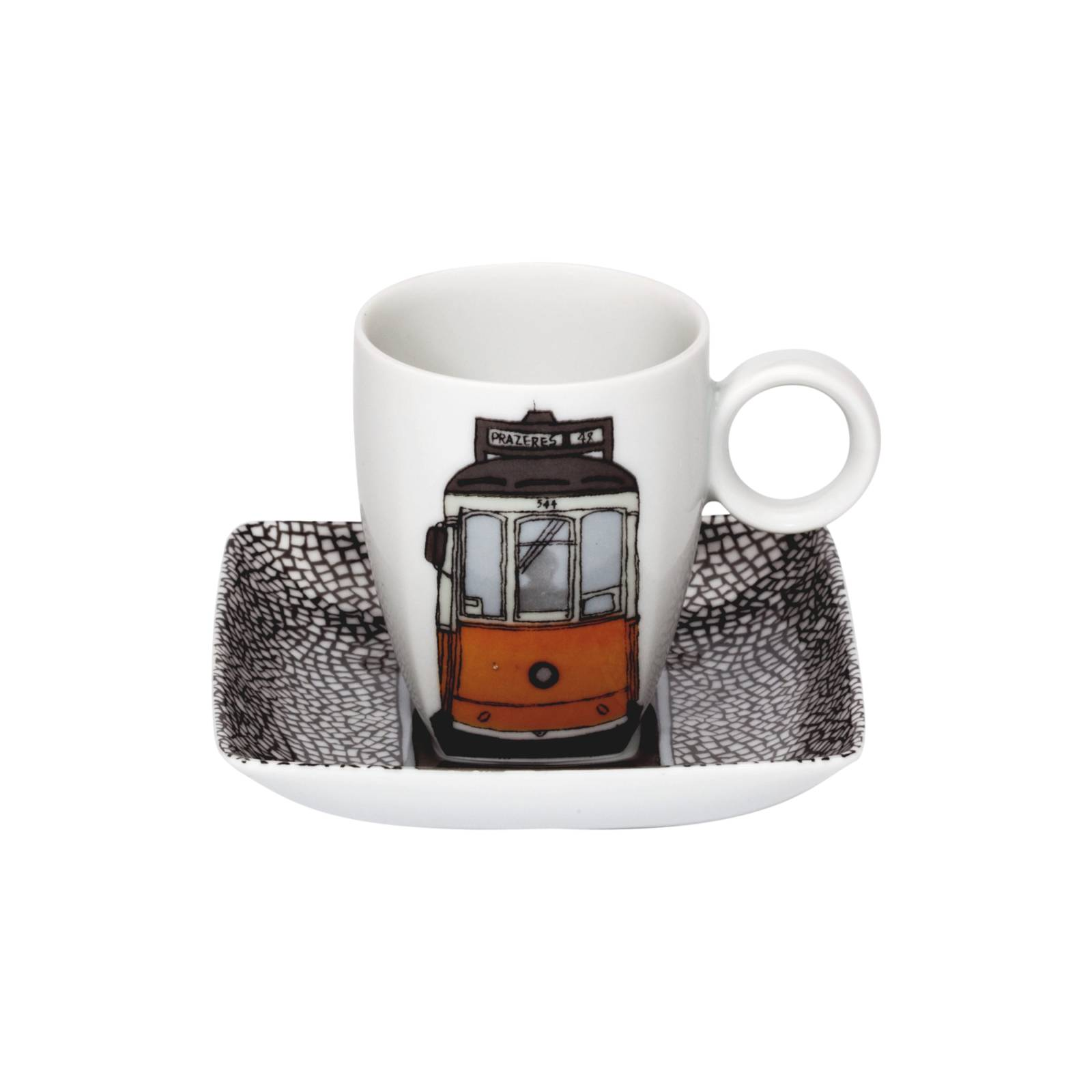 Alma De Lisboa Coffee Cup and Saucer Electico