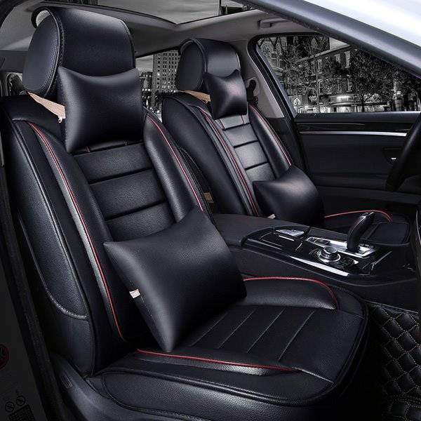 Luxurious Sports Style With Extra Comfort Side Cushions PU Universal Car Seat Covers