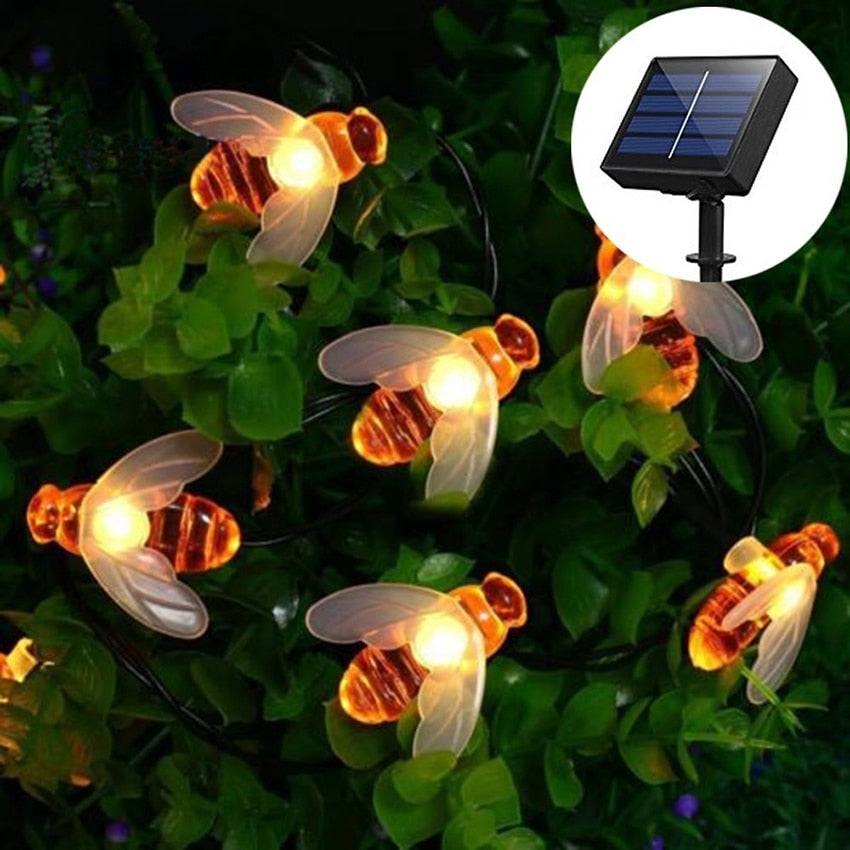 Solar-Power Honey Bee LED String Light
