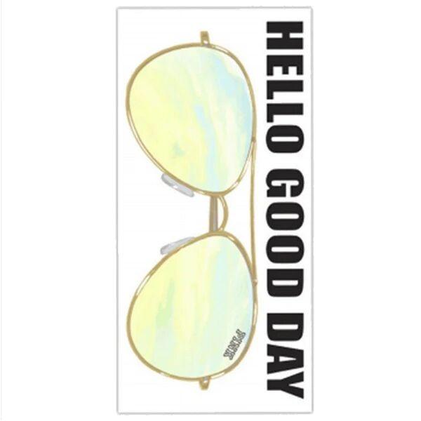Hello Good Day Sunglasses Beach Towel