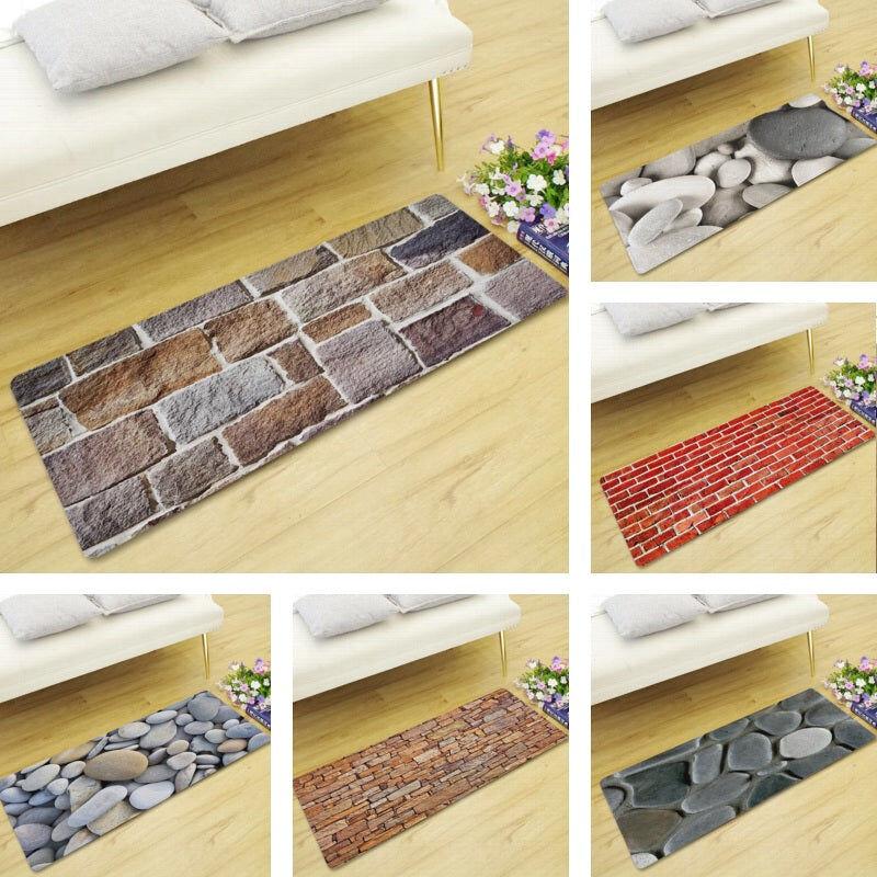 Brick / Stone Walkway Print Floor Runner Mat