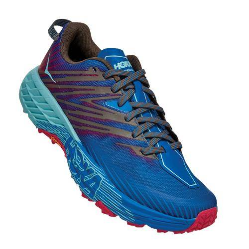 Hoka One One Speedgoat 4 Women's Trail Imperial Blue Pink Peacock 1106527 IBPP