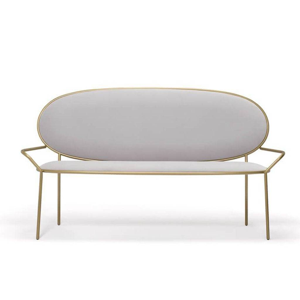 1 Stay Bench With Armrests - Velvet-Graphite Grey