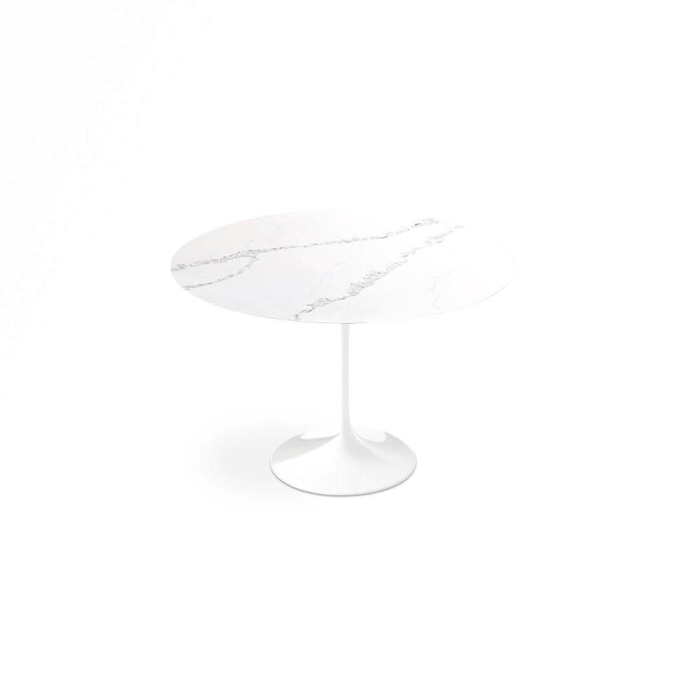 "1 Carrara Nuvo Calacatta Quartz© Tulip Dining Table - Round - 60"" / Backorder"