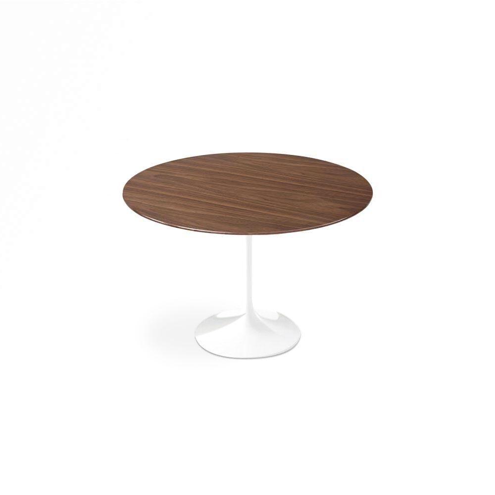 "1 Dark Walnut Wood Tulip Dining Table - Round - 60"""