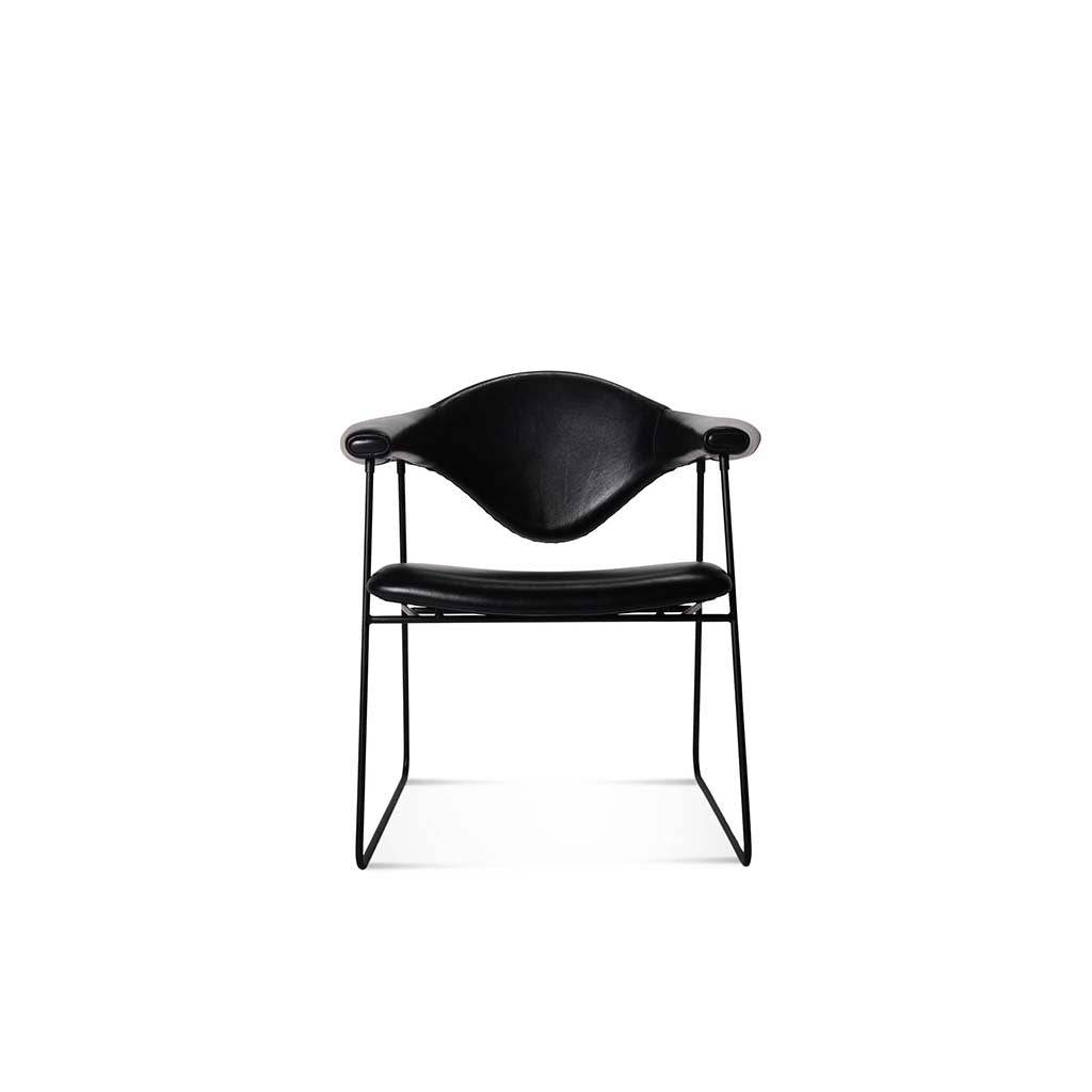 1 Masculo Dining Chair - Aniline Leather-Black