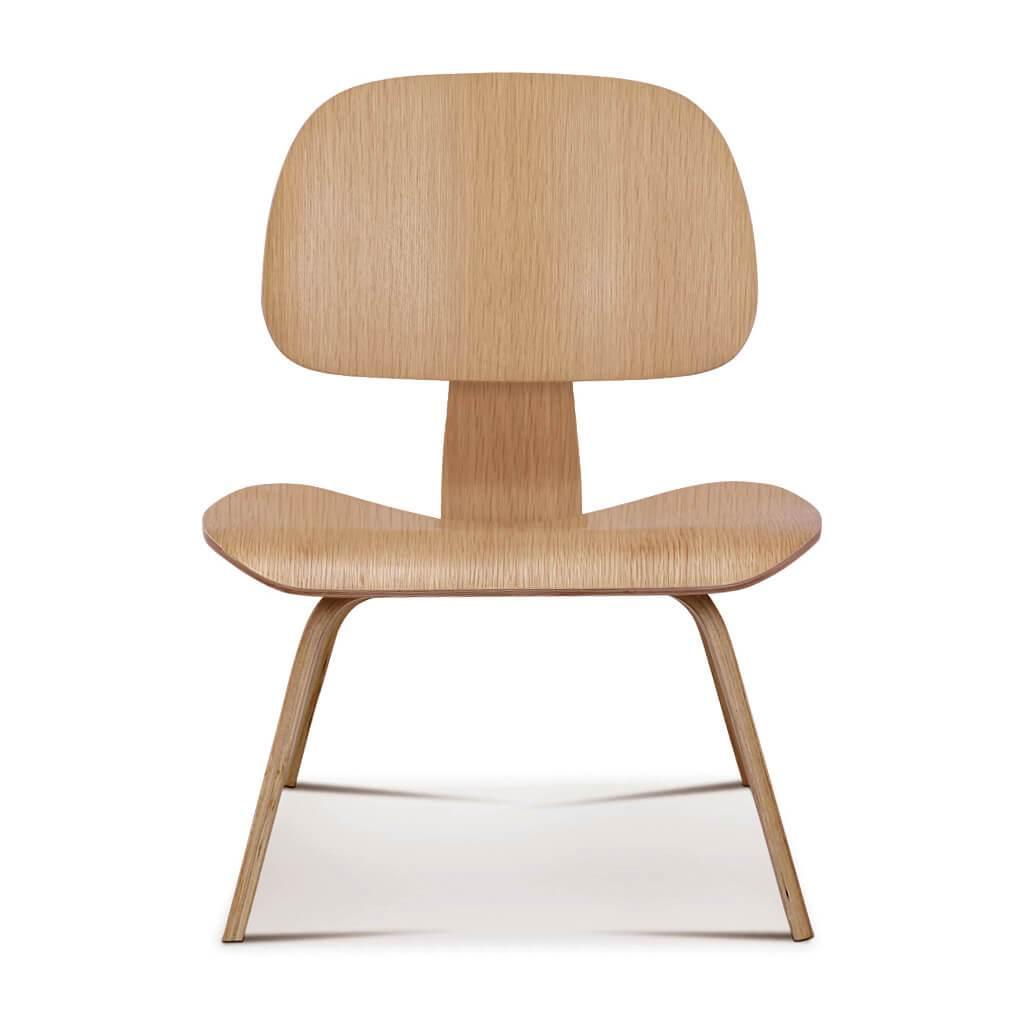 1 Molded Plywood Lounge Chair (lcw) - Oak Veneer