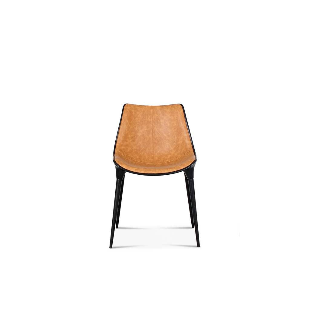 1 Passion Dining Chair - Vegan Leather-Brown