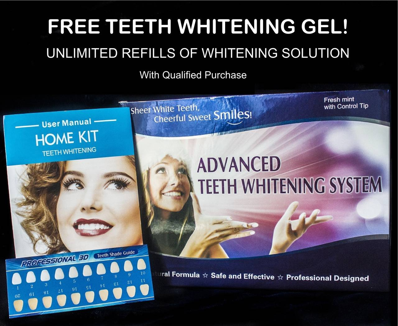 Impressive Smile Advanced Teeth Whitening Kit with Unlimited Free Refills - Best Teeth Whitening at Home