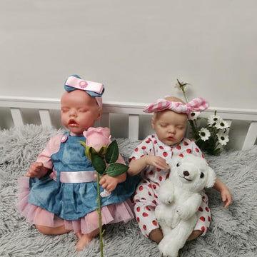 Reborn Baby Sister 17'' Alice And 22'' Alma
