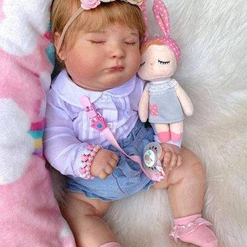 19'' Asleep Reborn Baby Girl Kerri, Realistic Lifelike Handmade Doll