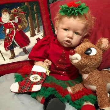 "22"" Cute Christmas Cherry Reborn Baby Doll Girl"