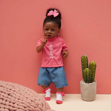 22'' Little Sonya Reborn Baby Doll Girl Silicone Vinyl Doll