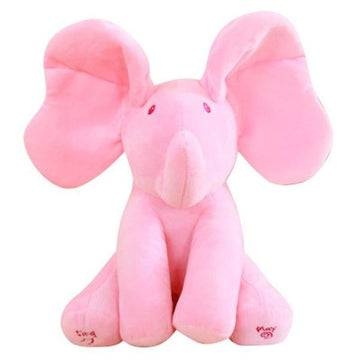"9"" Electric Elephant Plush Toy Singing and Moving Ears Children's Comfort Doll Toy"