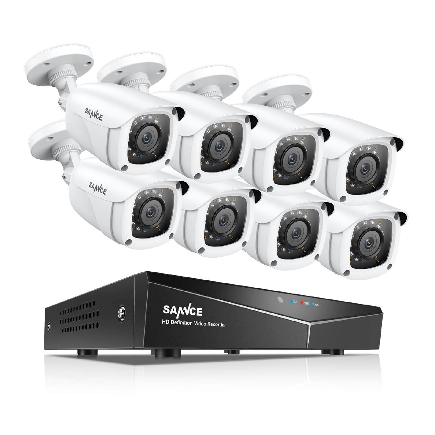 H.264 DVR with 1080P HD In/Outdoor Security Cameras