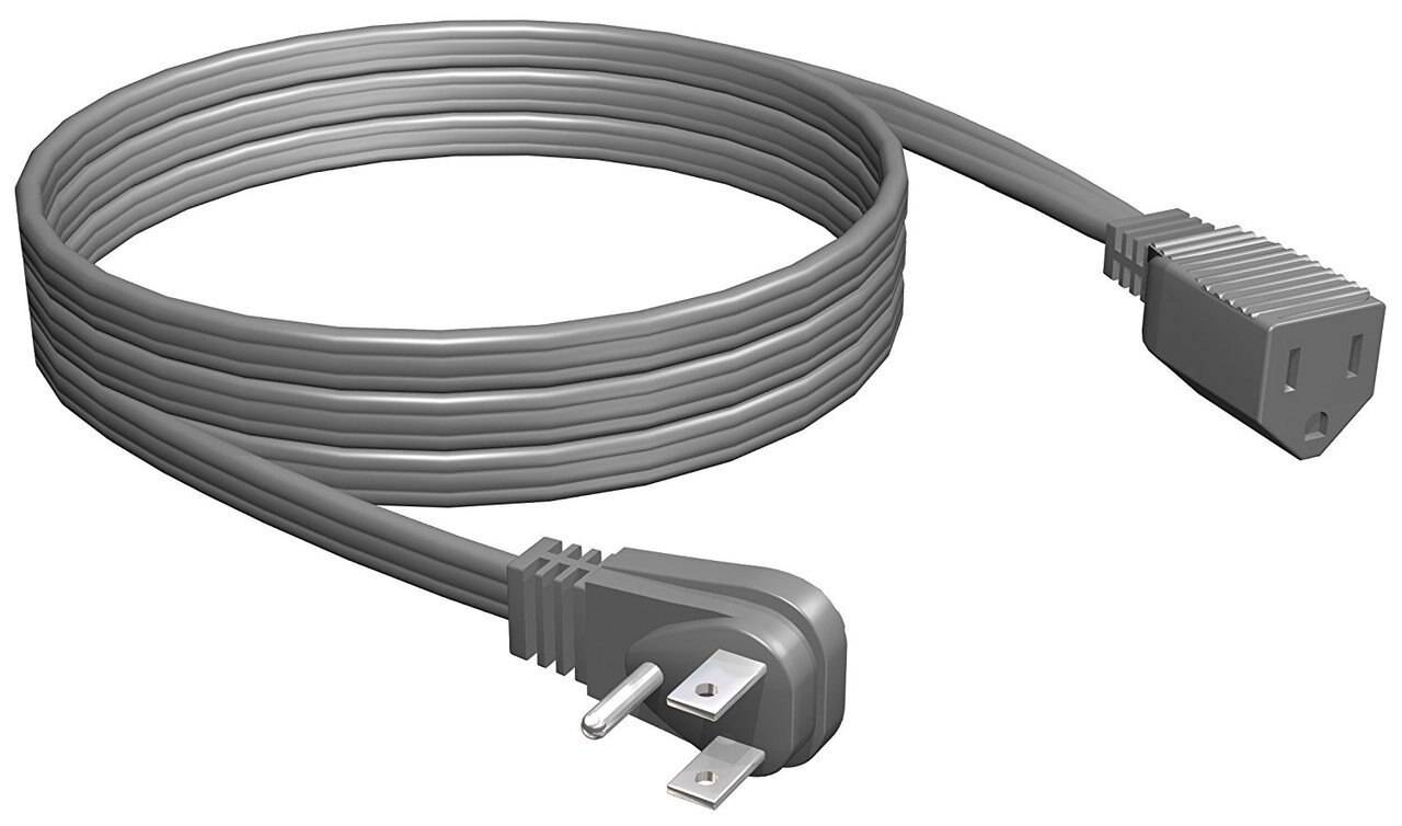 trisonic Electrical Extension Cords - Household, Outdoor, Appliance A/C - Choose 3ft - 100ft - White, Brown, Green, Gray, Orange