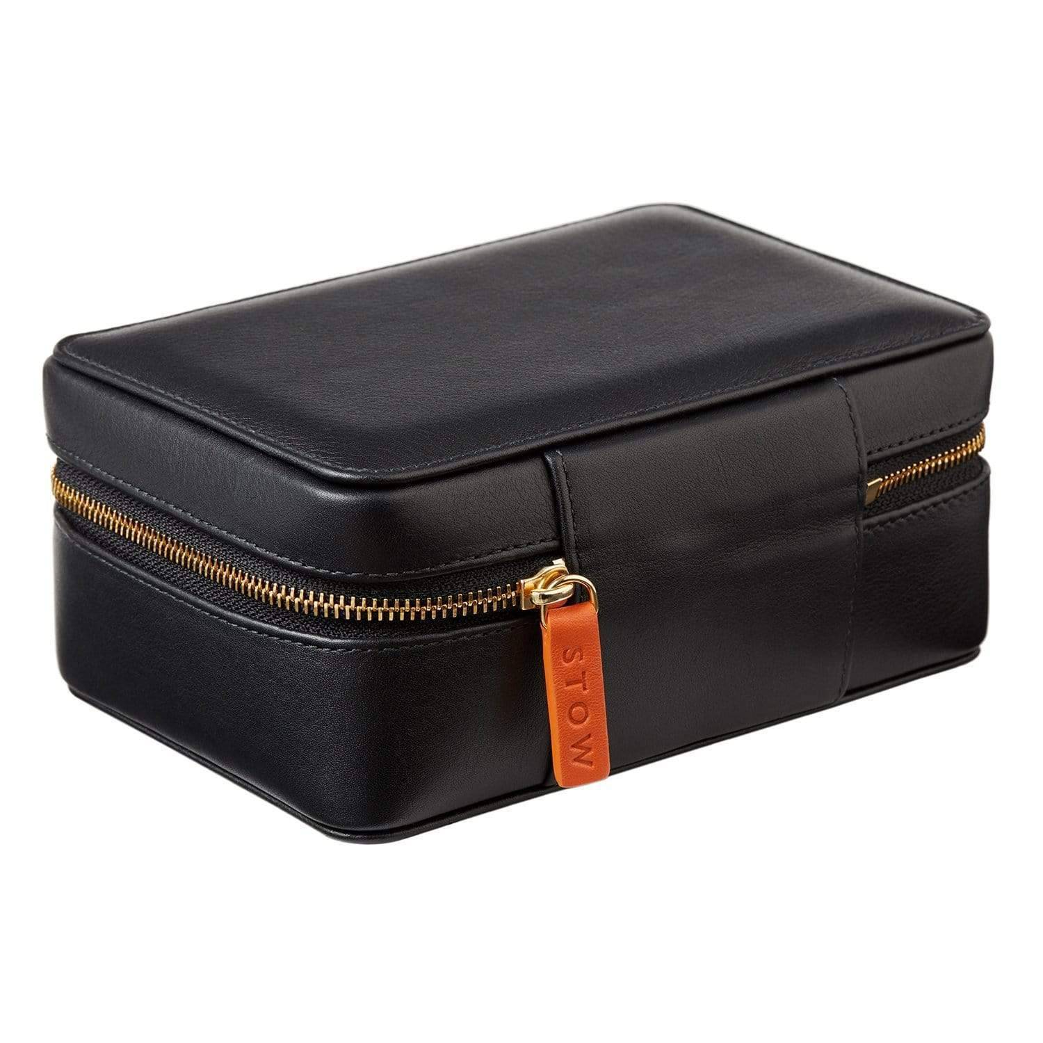 STOW Amelia Leather Jewellery Case - Personalized