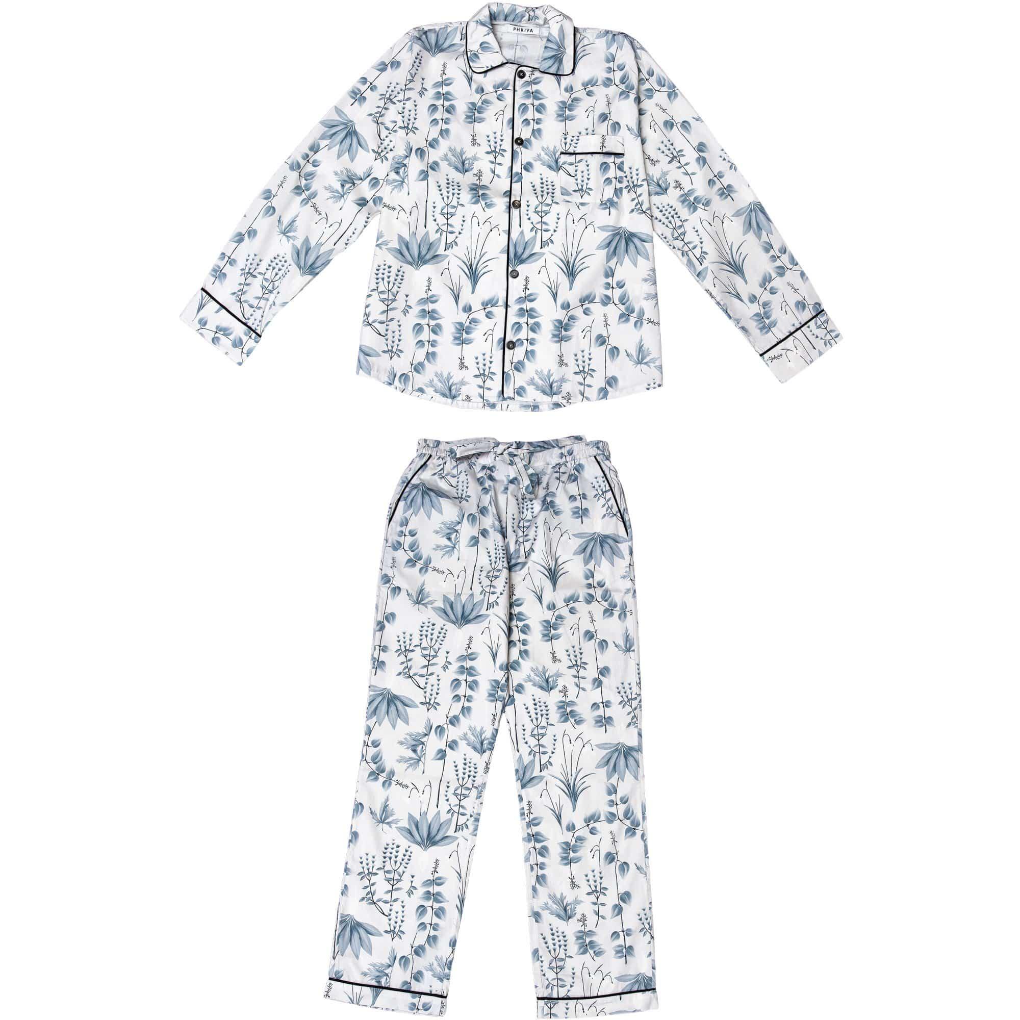 Phriya Men's Gray Circe's Garden Long Pajama Set  - multicolor - Size: One Size