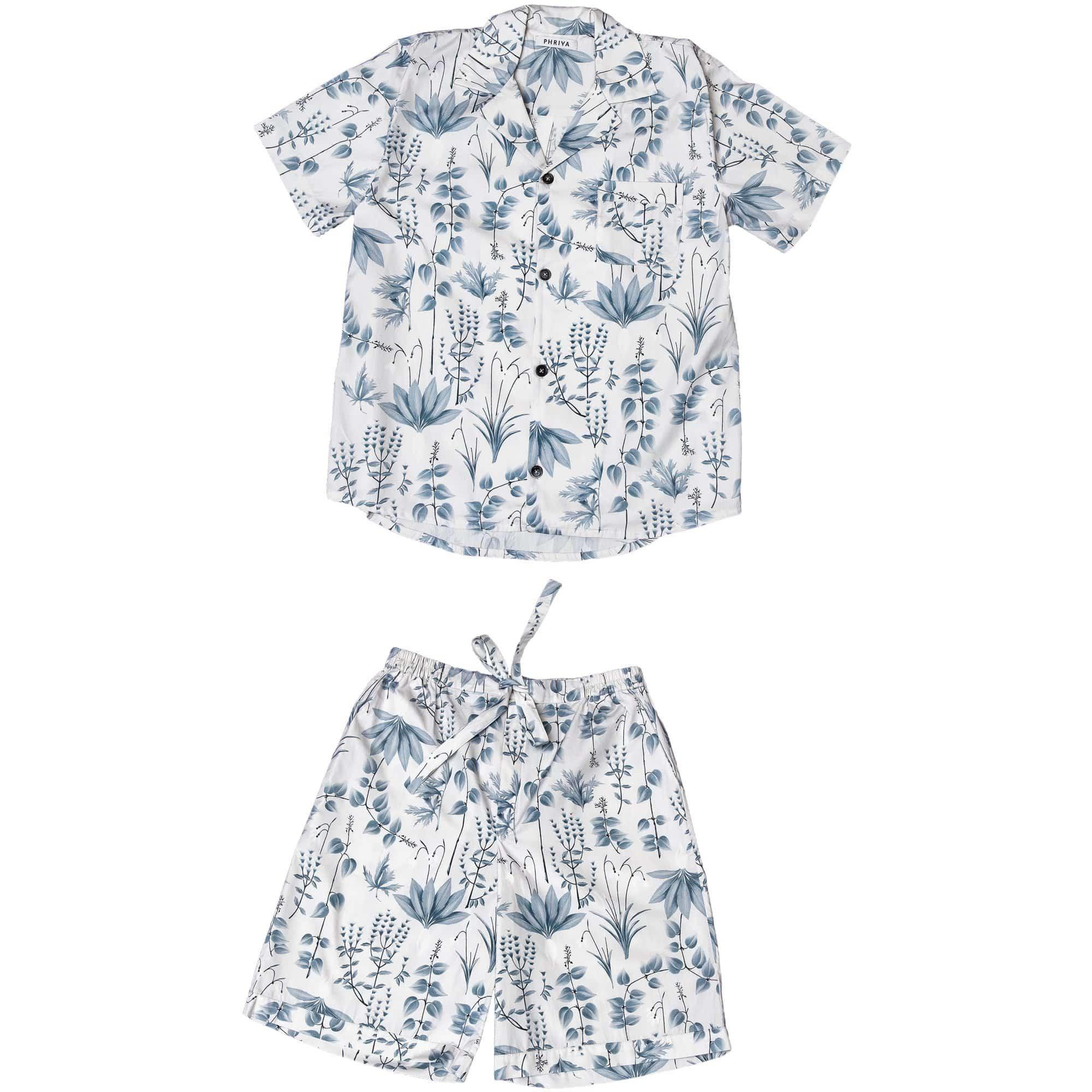 Phriya Men's Gray Circe's Garden Short Pajama Set  - multicolor - Size: One Size