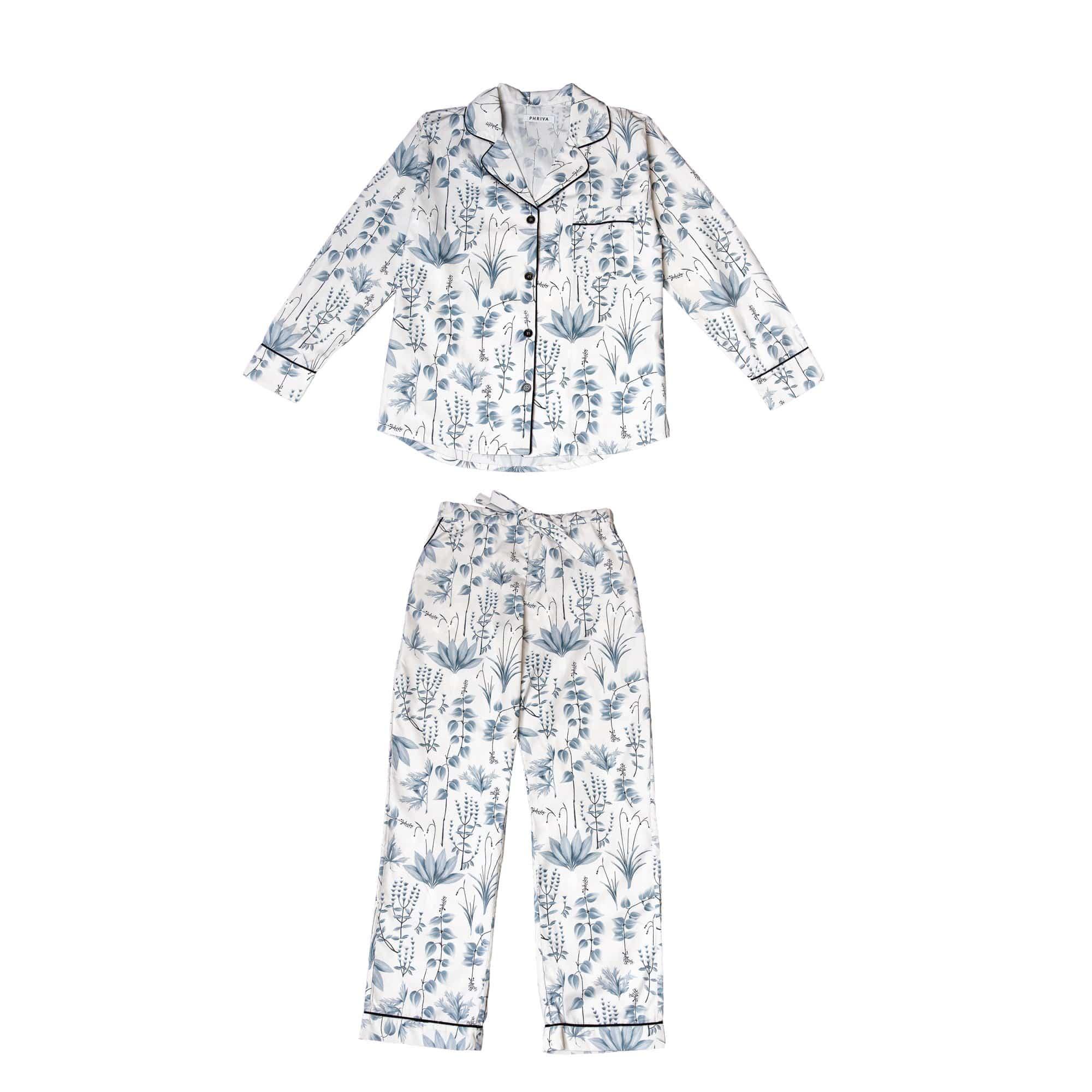 Phriya Women's Gray Circe's Garden Long Pajama Set  - multicolor - Size: One Size