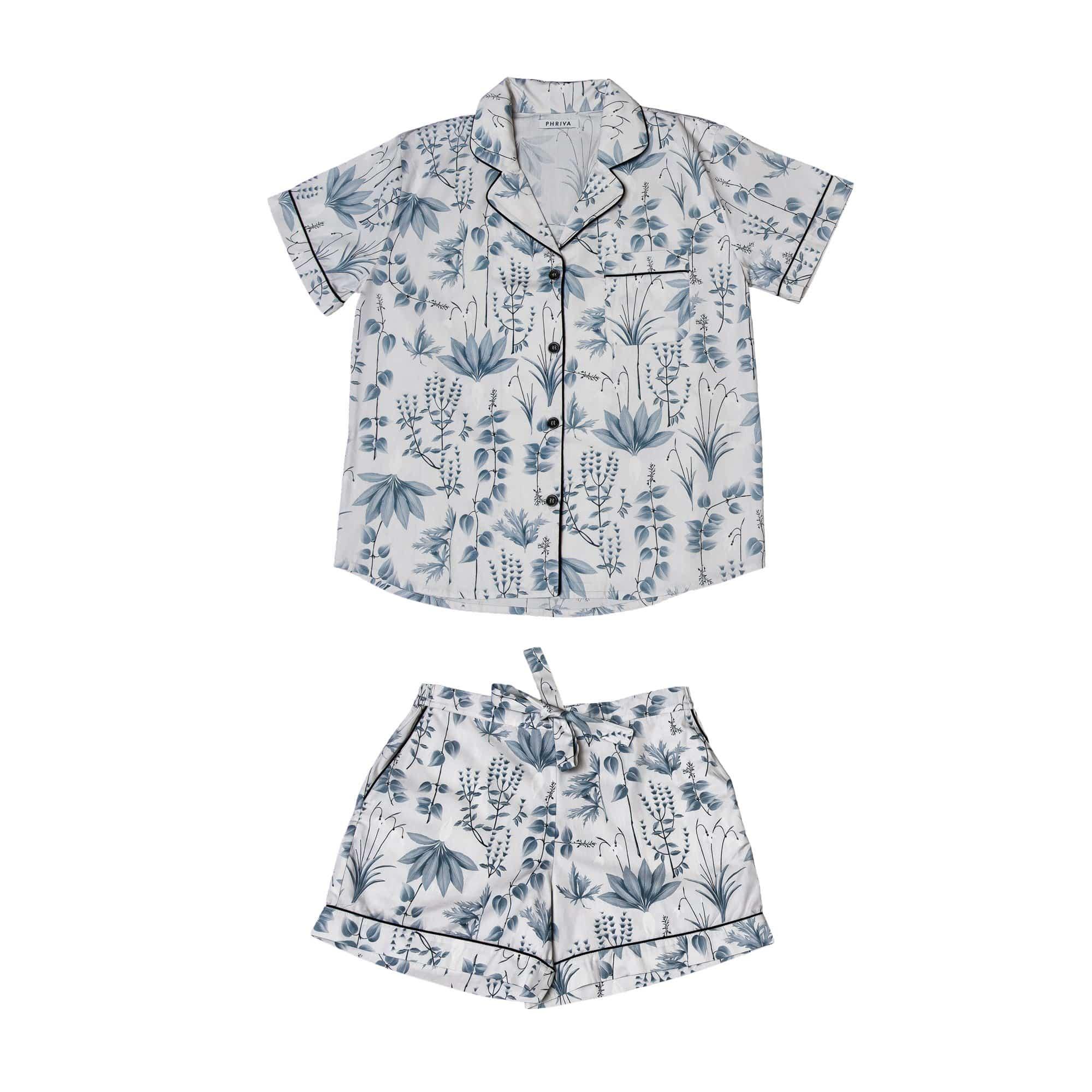 Phriya Women's Gray Circe's Garden Short Pajama Set  - multicolor - Size: One Size