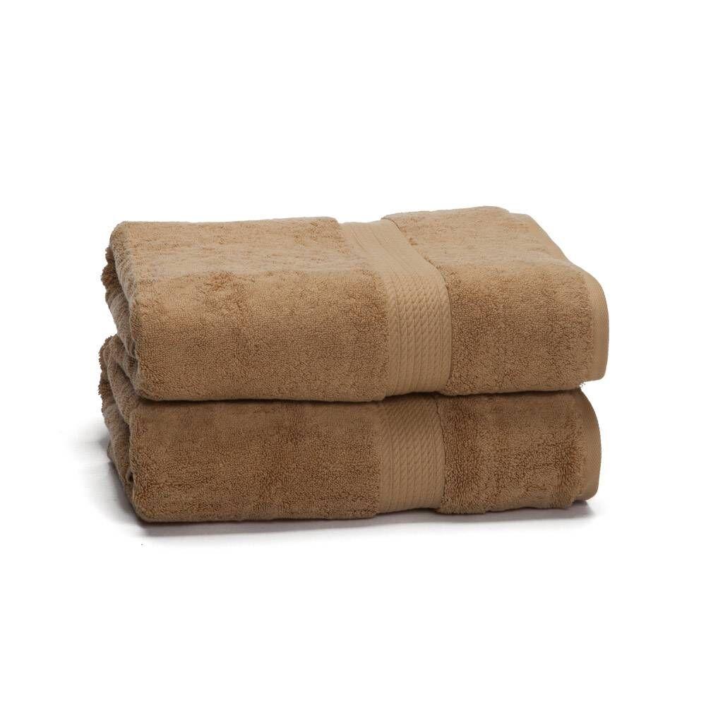 eLuxury 900 GSM 2-Piece Long Staple Combed Cotton Bath Towel Set
