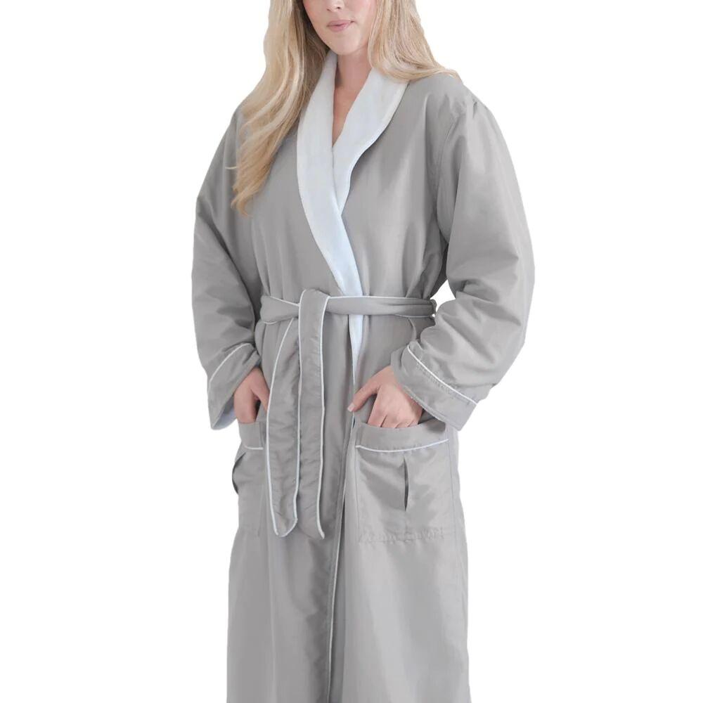 Jennifer Adams® X-Large Graphite Long Bathrobe by Jennifer Adams®