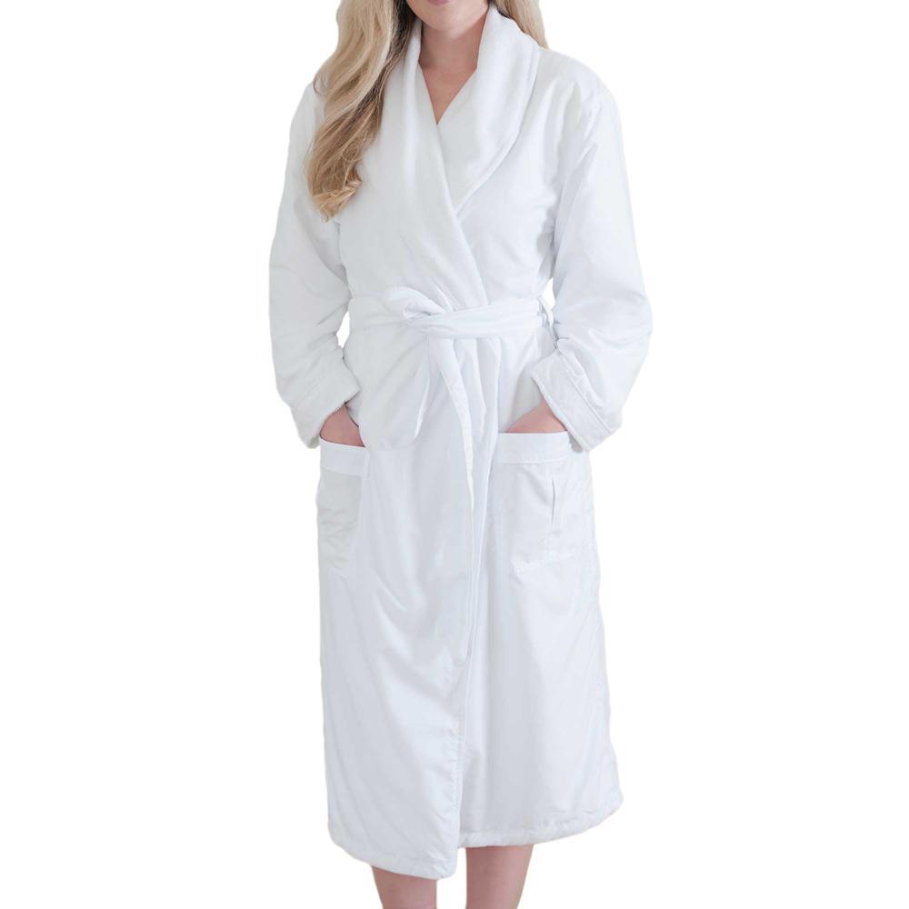 Jennifer Adams® Large White Long Bathrobe by Jennifer Adams®