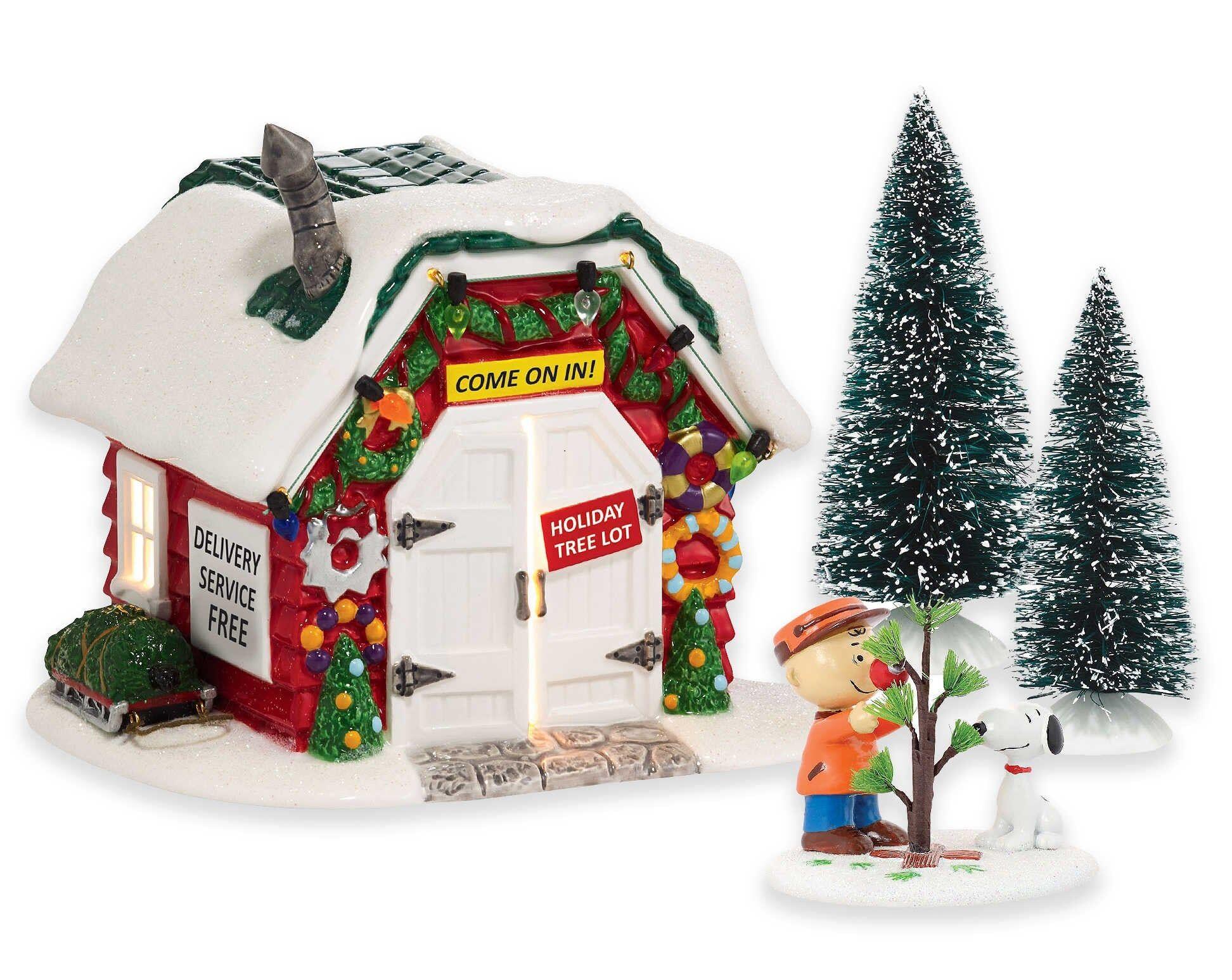 Department 56 4056231 Peanuts Porcelain Village Accessory, Multicolored, Ceramic