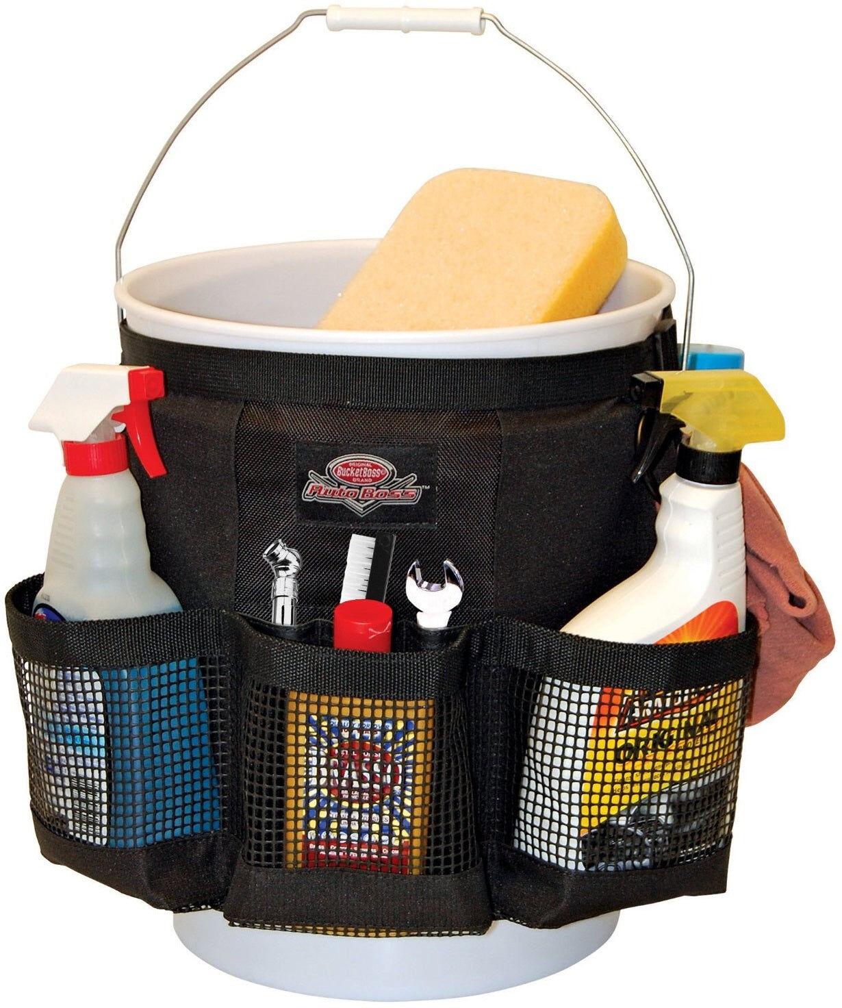 Boss Bucket Boss Ab30060 Wash Bucket Organizer, Black