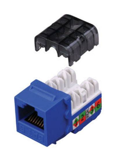 Monster Cable 140143-00 Cable Keystone Insert Category 5e, Blue, 5/pk