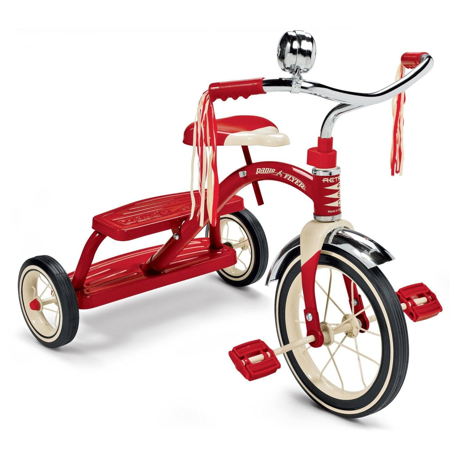 Radio Flyer 33 Classic Red Dual-deck Tricycle, 12-inch