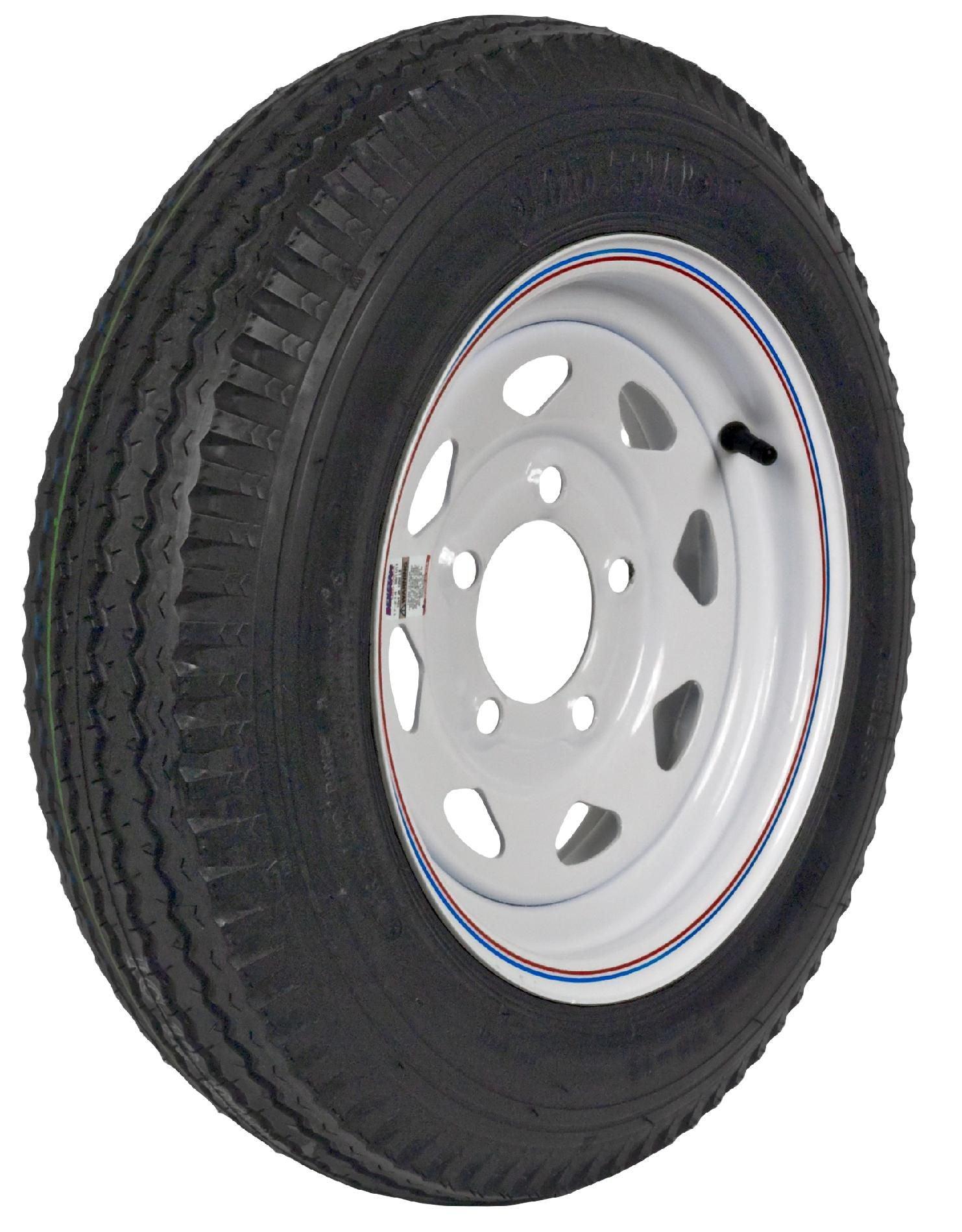 Martin Wheel Dm452c-5c-i Loadstar Bias Ply Trailer Tire, 530-12