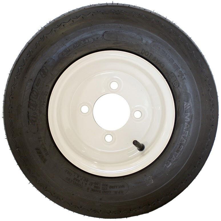 Marastar 80101 Trailer Tire Wheel, Rubber