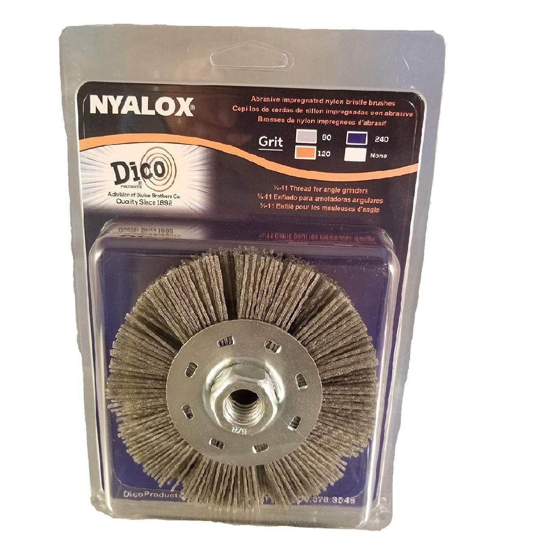 Dico Products 7200075 Nyalox Wheel Brush Coarse, Grey