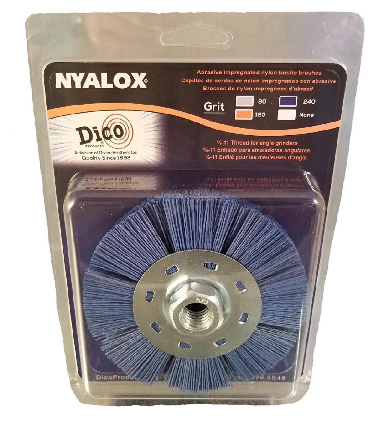 Dico Products 7200079 Nyalox Wheel Brush Fine, Blue