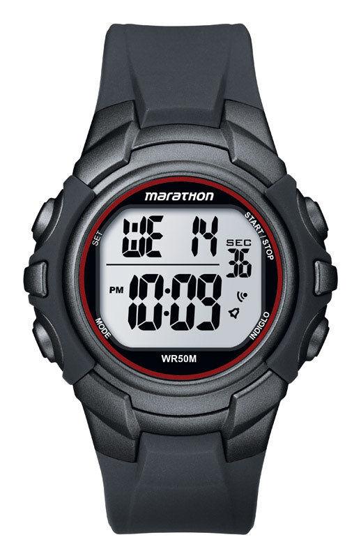 Marathon T5k6429j Men Digital Sports Watch, Grey/red