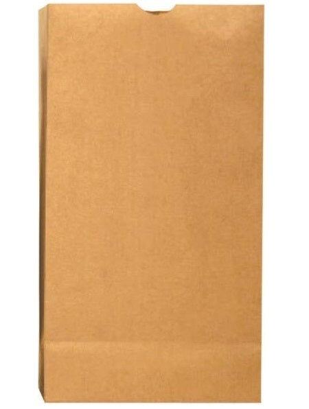 R3 18402 Grocery Kraft Paper Bag, Plain, Brown, 500/bundle