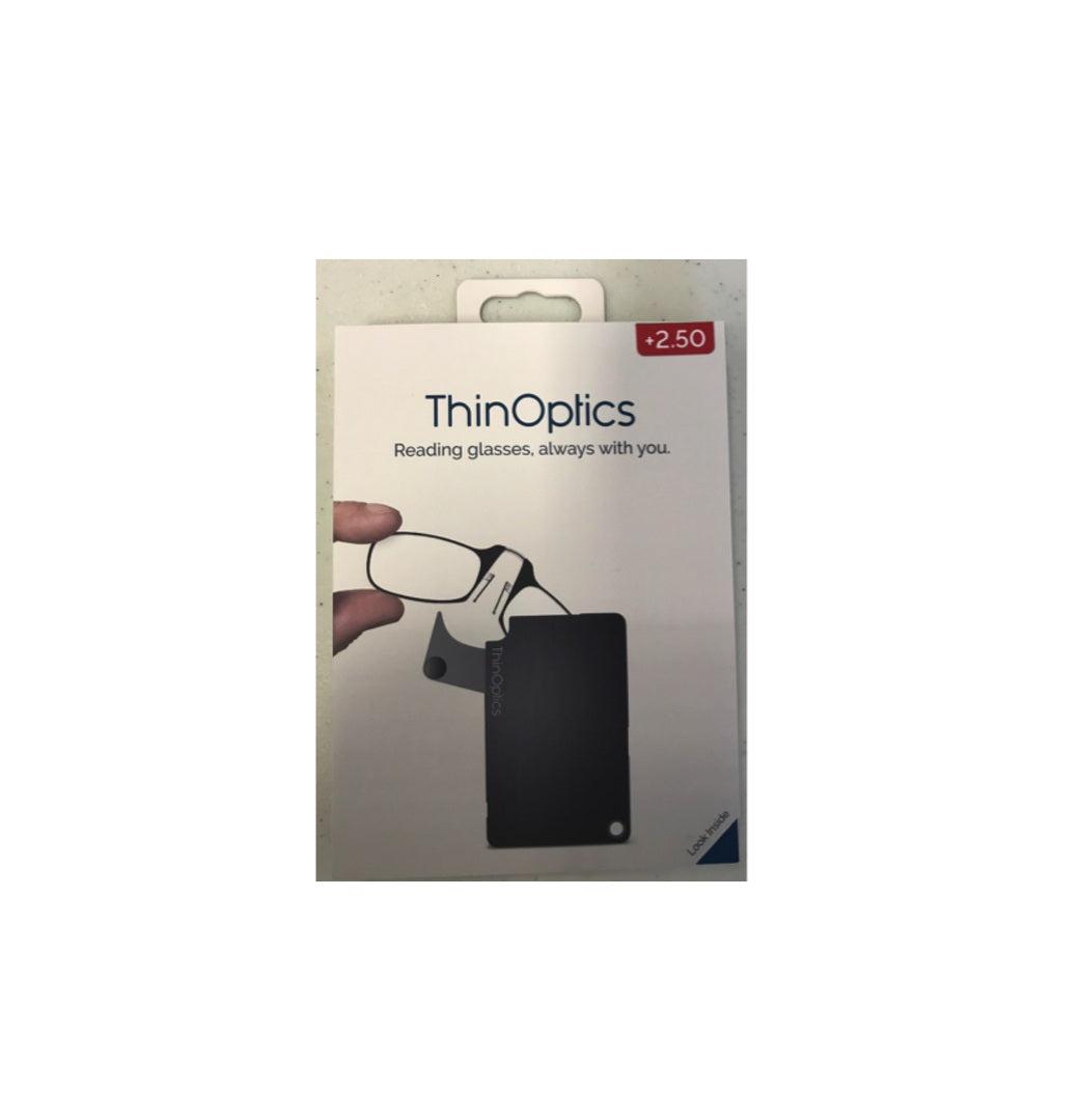 Thinoptics Fcb2.5blackisr Reading Glass With Flashcard Case, Black