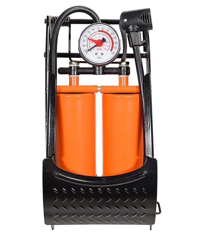 Capstone 67314 Double Barrel Foot Pump With Gauge