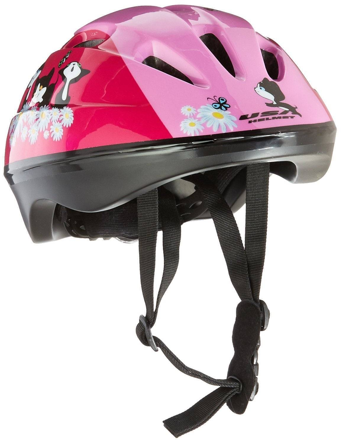 Kent 97521 Toddler Bicycle Helmet, Pink With Kittens