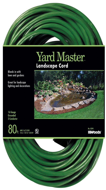 Woods 990394 Sjtw Outdoor Cord, 80', Green