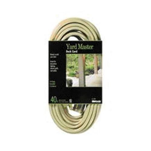 Woods 0385 Outdoor Garden Extension Cord 40', Beige