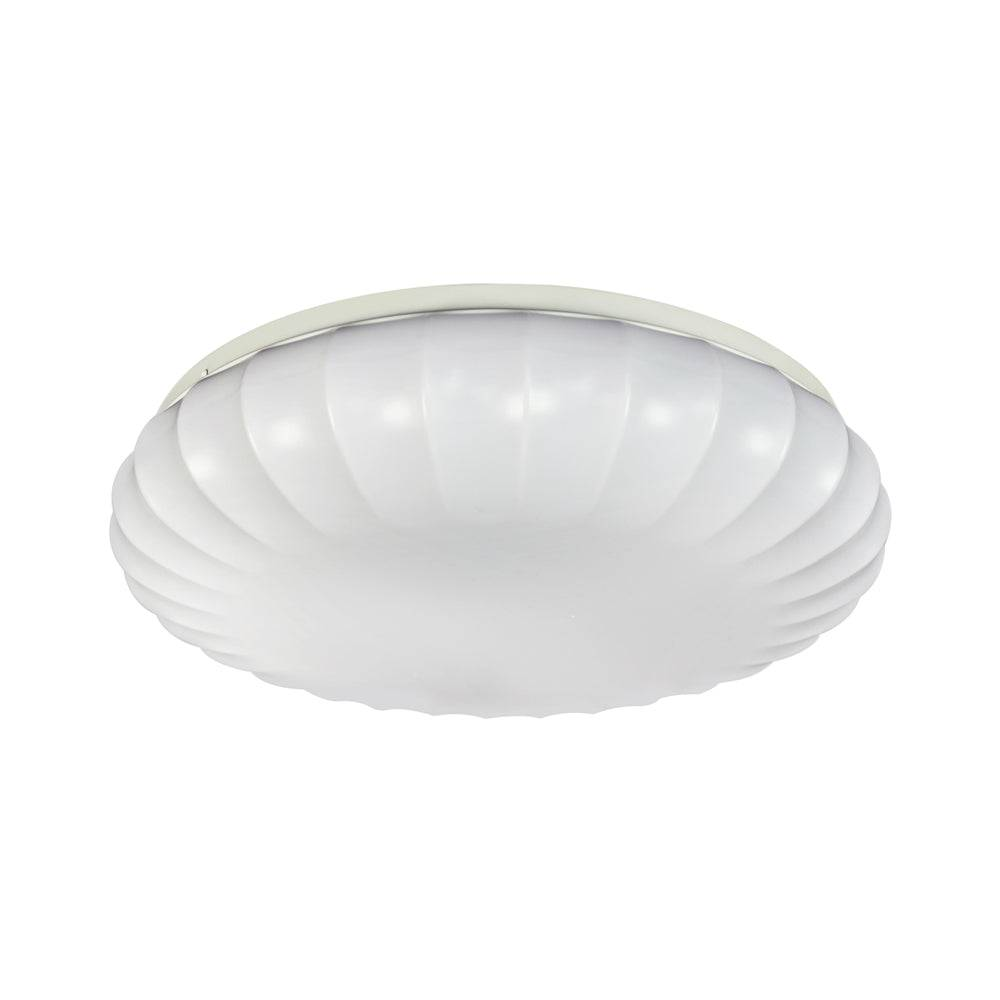 """Eti 54451511 Color Preference Carousel Decorative Dimmable Flush Mount, White, 15"""""""