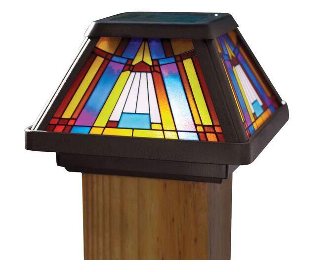 Moonrays 91241 Outdoor Solar Post Cap Light, 30 V