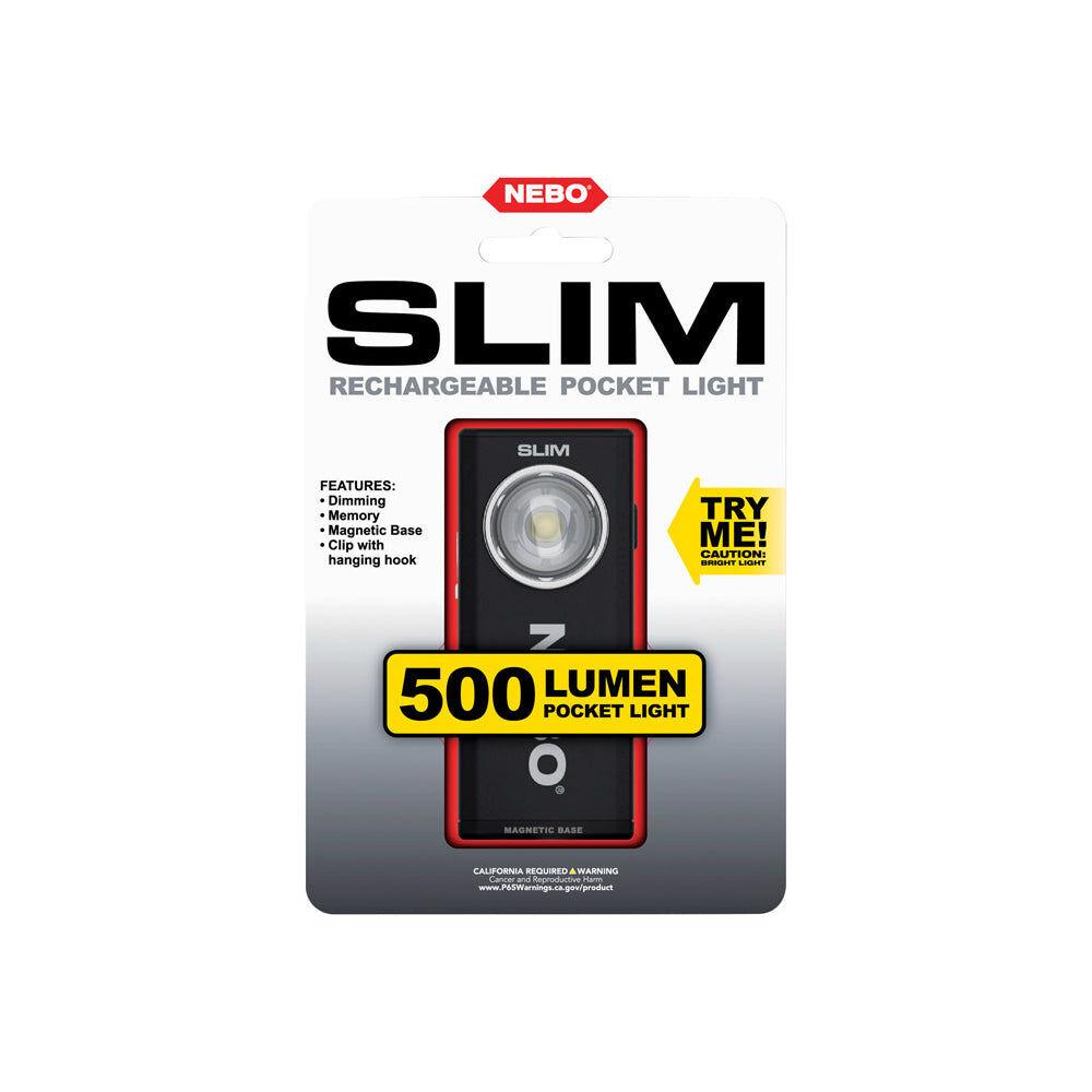 Nebo 6738 Slim Rechargeable Led Flashlight, 500 Lumens